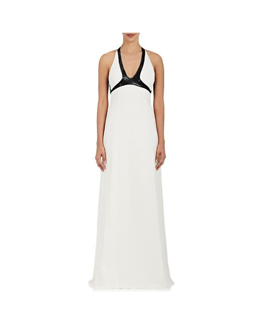 Narciso Rodriguez | White Sequined Silk | Lyst