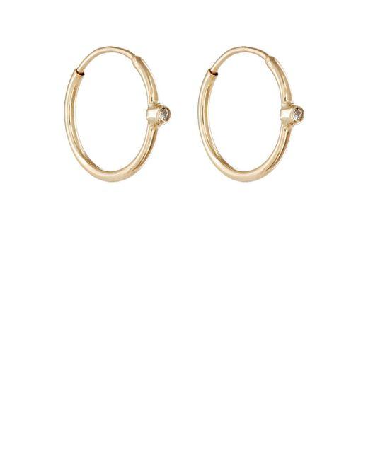 Jennifer Meyer | Metallic White Diamond Hoop Earrings | Lyst