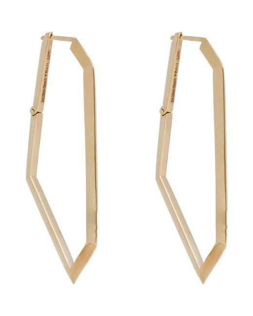 Monique Péan - Metallic Gold Geometric Hoops - Lyst