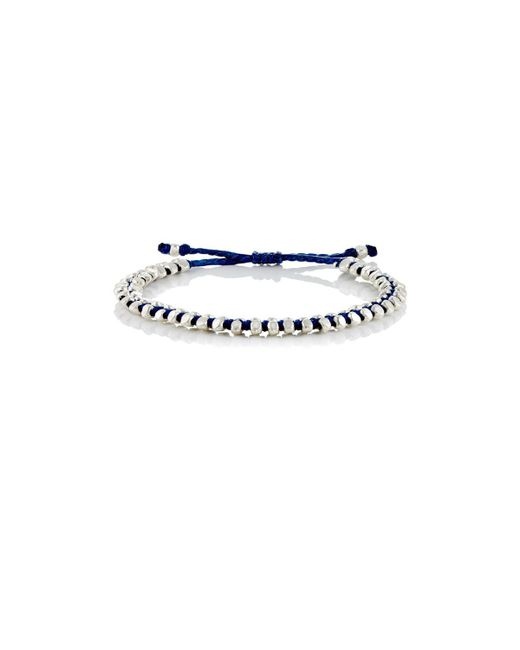 M. Cohen - Blue Beaded Waxed Cord Bracelet - Lyst