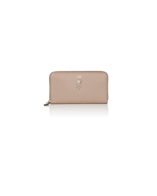 Fendi - Gray Abclick Zip-around Wallet - Lyst