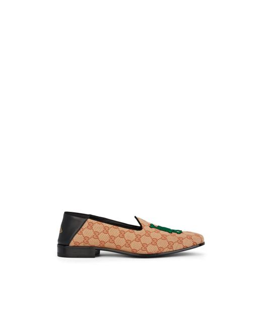 b2b930e1318 ... Gucci - Natural La Dodgerstm Canvas Loafers for Men - Lyst ...