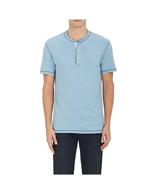 Faherty Brand | Blue Cotton Henley for Men | Lyst