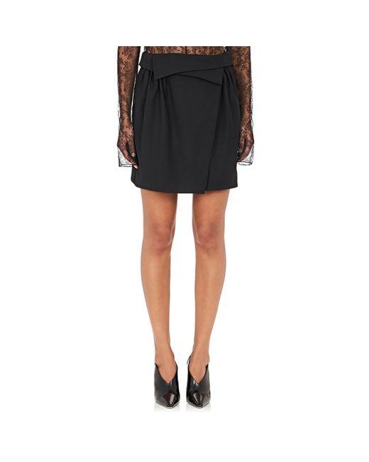 Nina Ricci - Black Foldover Miniskirt - Lyst