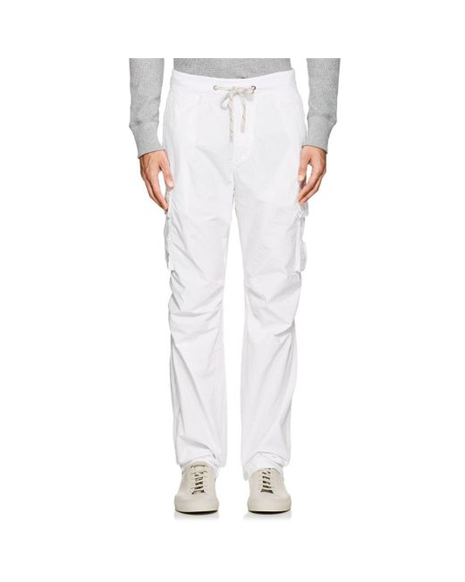 James Perse - White Cotton Poplin Cargo Pants for Men - Lyst