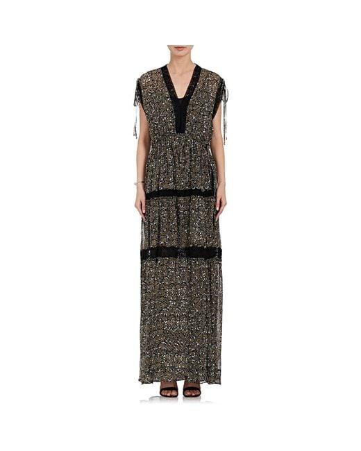 Robert Rodriguez | Black Floral Silk Maxi Dress | Lyst
