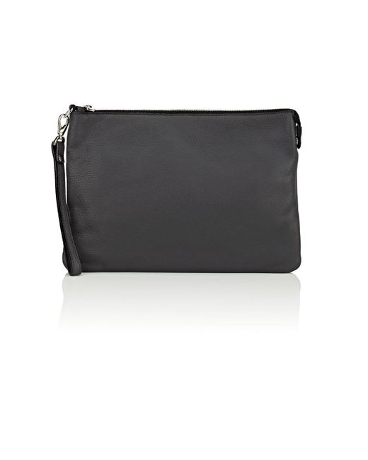 Barneys New York - Gray Leather Pouch for Men - Lyst