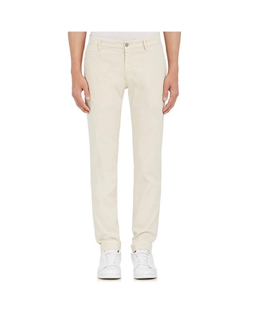 Barneys New York - Gray Corded Stretch-cotton Slim Chinos for Men - Lyst
