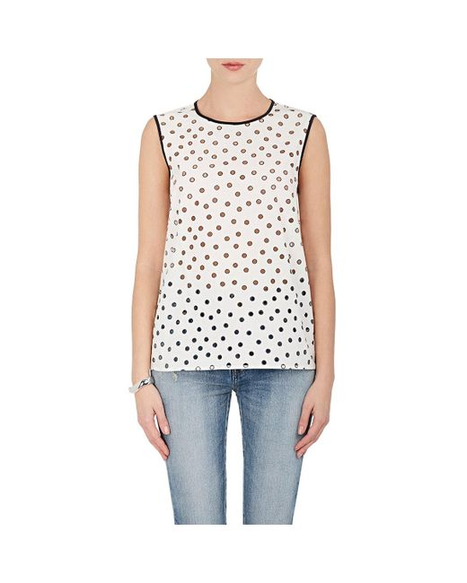 Rhié   White Cutout Cotton Sleeveless Top   Lyst