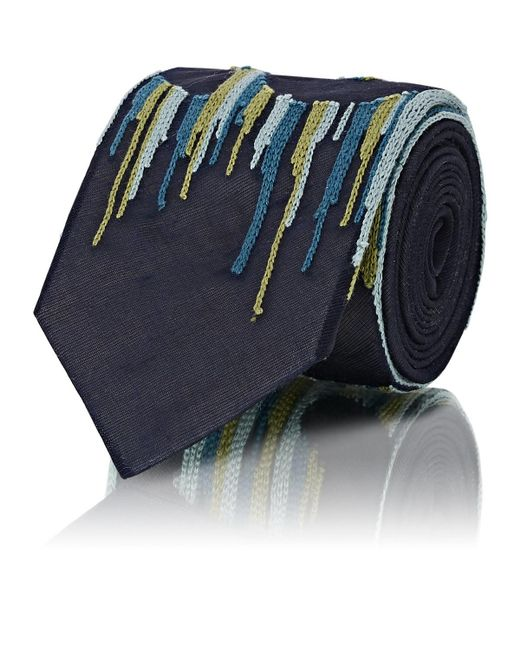 Title Of Work - Blue facts Silk Necktie for Men - Lyst
