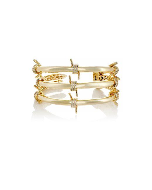 Fallon | Metallic Barbed Wire Triple Cuff | Lyst