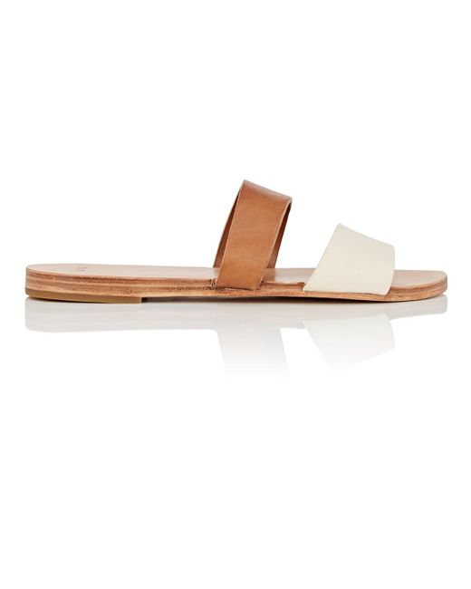 Feit - White Asymmetric Leather Sandals - Lyst