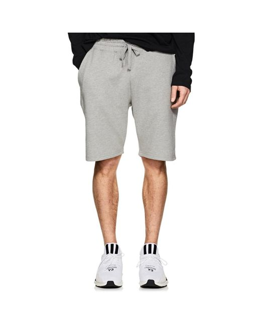 Barneys New York - Gray Cotton French Terry Shorts for Men - Lyst