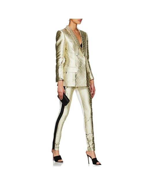 3a3bdd5f3fa7a ... Haider Ackermann - Yellow Abstract Jacquard Hourglass Blazer - Lyst ...