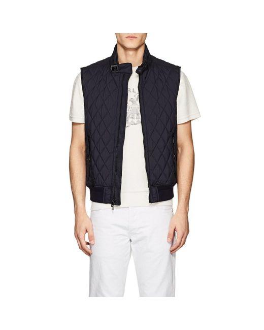 Ralph Lauren Black Label - Blue Fairfield Diamond-quilted Tech-fabric Vest for Men - Lyst
