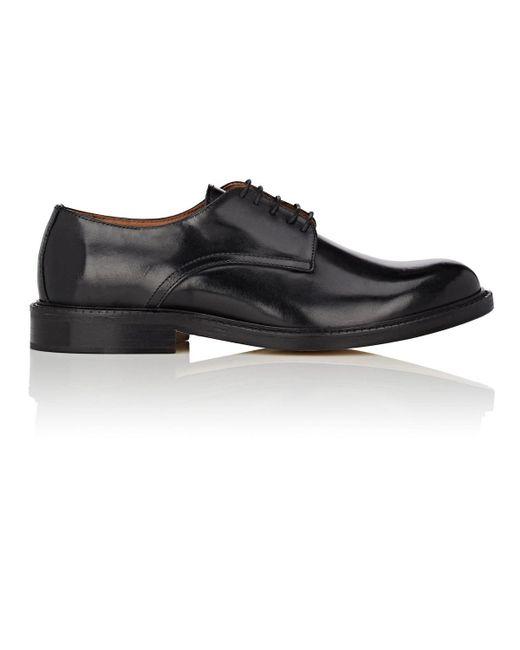 Barneys New York - Black Leather Bluchers for Men - Lyst