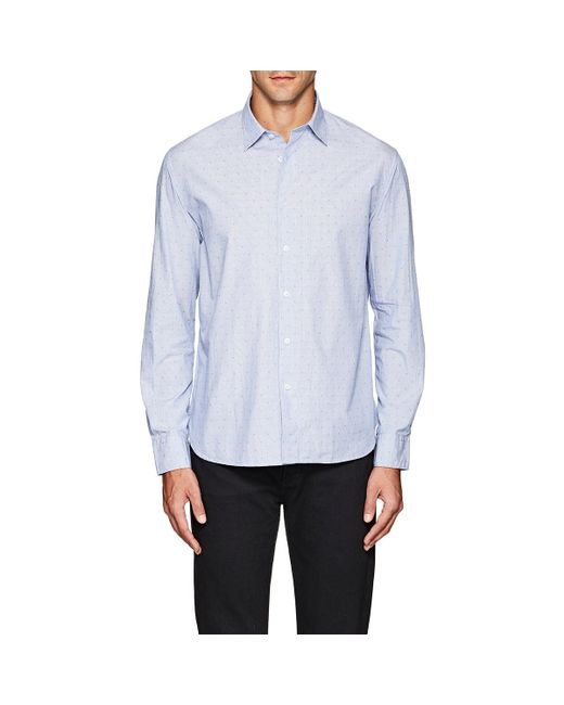 Barneys New York - Blue Striped & Dot for Men - Lyst