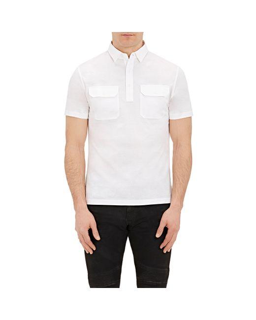 Ralph lauren black label jersey polo shirt in white for for Ralph lauren black label polo shirt