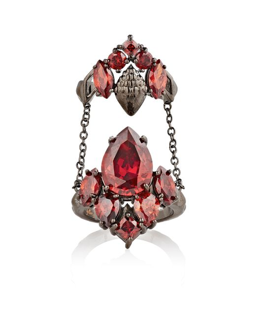 Fallon | Red Mellifera Double Ring | Lyst