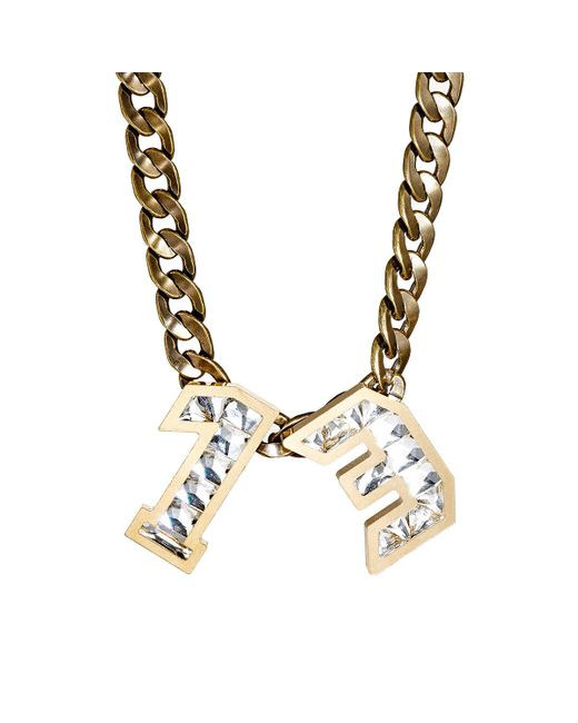 Lanvin | Metallic Number Pendant Necklace | Lyst