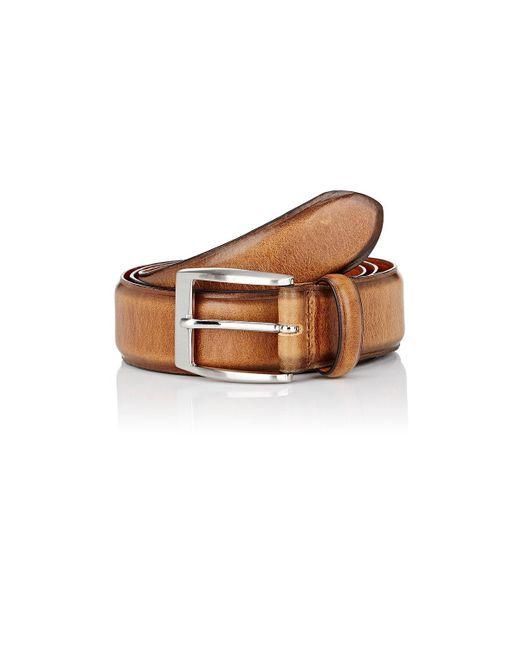 Barneys New York   Brown Burnished Leather Belt for Men   Lyst