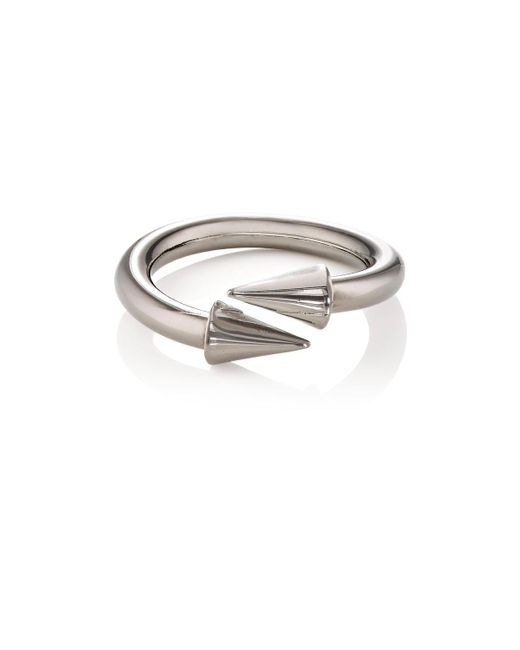 Fallon | Metallic Twist Ring | Lyst