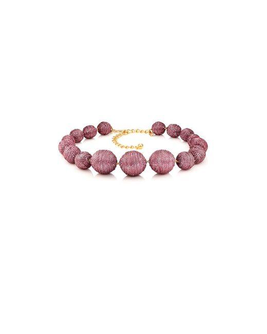 Kenneth Jay Lane   Multicolor Metallic Sphere Necklace   Lyst