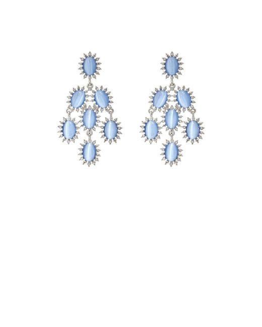 Kenneth Jay Lane   Metallic Cabochon & Crystal Chandelier Earrings   Lyst