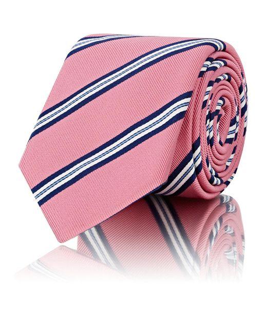 Barneys New York - Pink Striped Silk-cotton Necktie for Men - Lyst