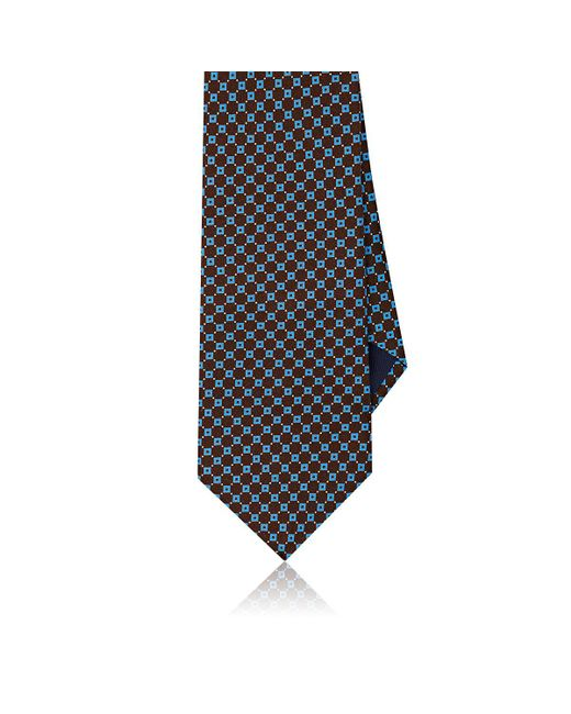 Piattelli - Brown Neat Silk Foulard Necktie for Men - Lyst