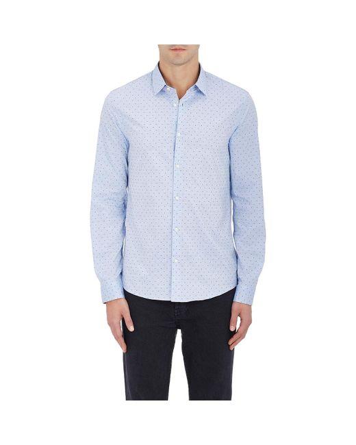 Michael Kors | Blue Swiss Dot Cotton Button for Men | Lyst