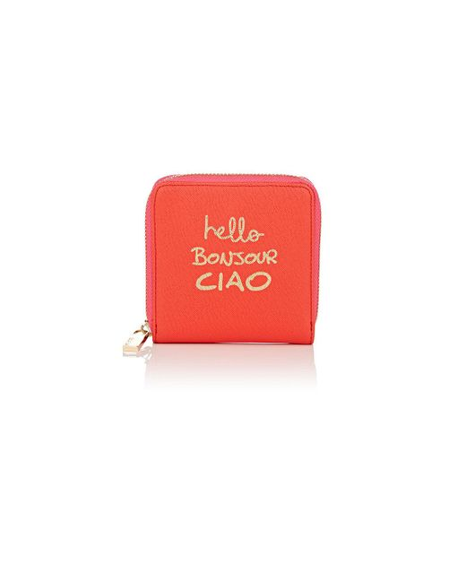 Deux Lux | Red Globetrotter Mini Travel Wallet | Lyst