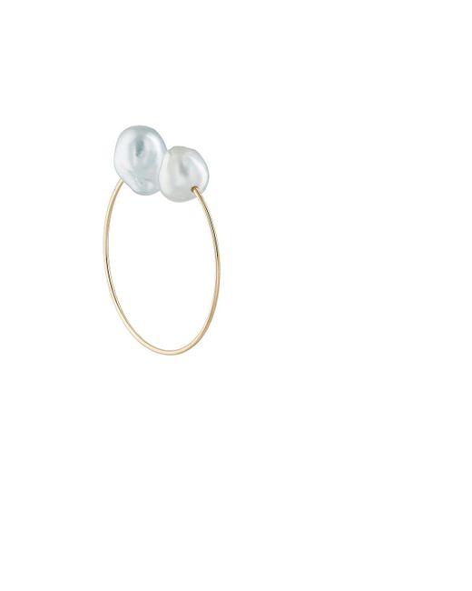 Hirotaka - Metallic Baroque Pearl & Yellow Gold Ear Cuff - Lyst