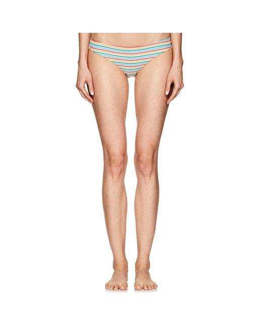 Onia - Multicolor Lily Striped Seersucker Bikini Bottom - Lyst