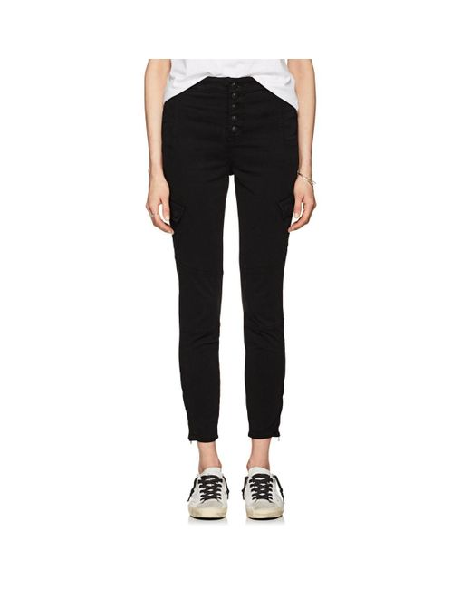J Brand - Black Brigette Sky High Utility Cargo Jeans - Lyst