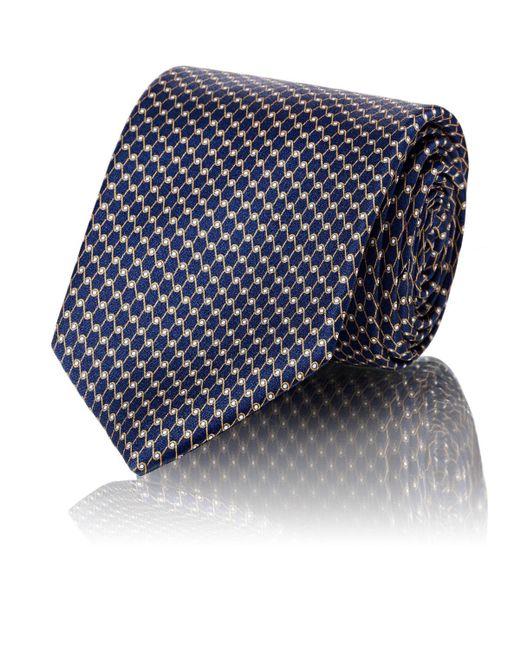 Barneys New York - Blue Chain-link-print Silk Satin Necktie for Men - Lyst
