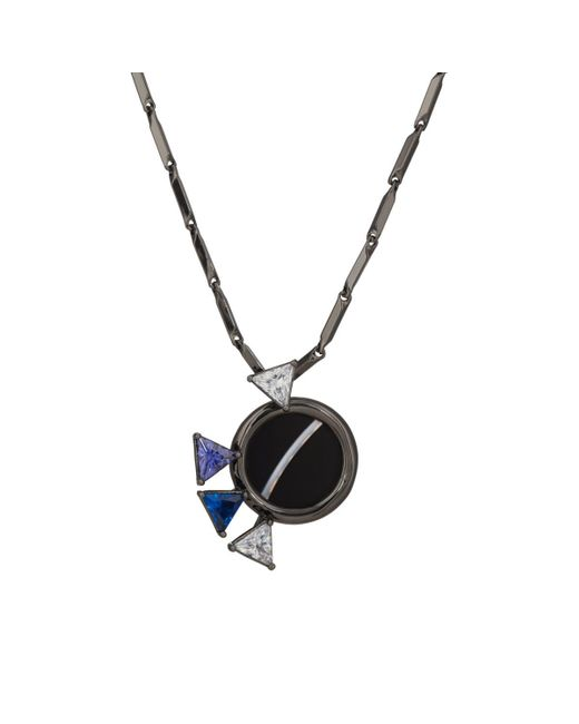 Eddie Borgo - Black Europa Mini Pendant Necklace - Lyst