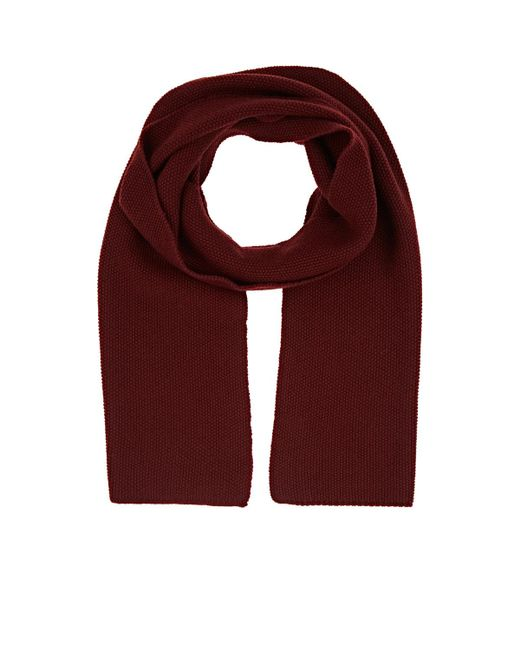 Barneys New York - Red Wool Scarf for Men - Lyst