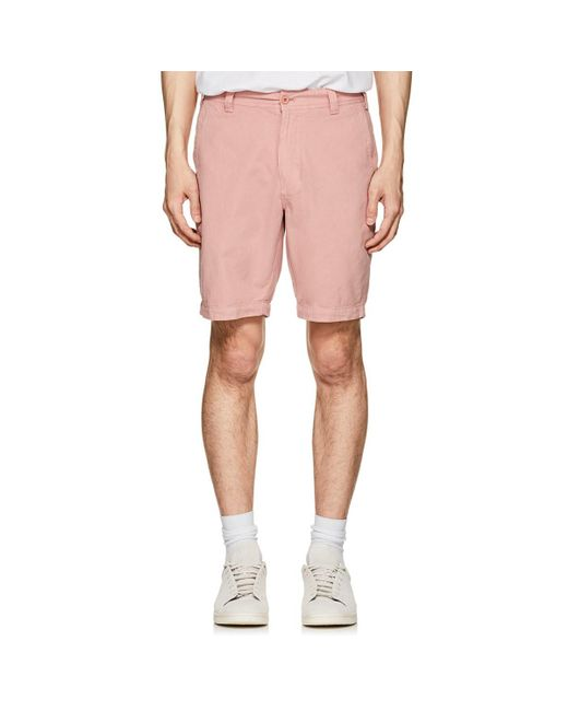 Barneys New York - Pink Cotton Twill Shorts for Men - Lyst