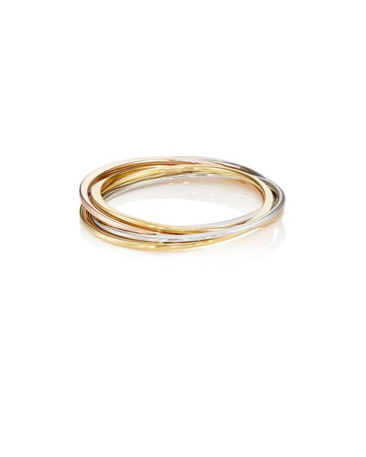 Kenneth Jay Lane | Metallic Interlocked Bangle Set | Lyst
