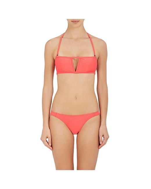 Chromat - Pink Caged-back Bandeau Bikini Top - Lyst