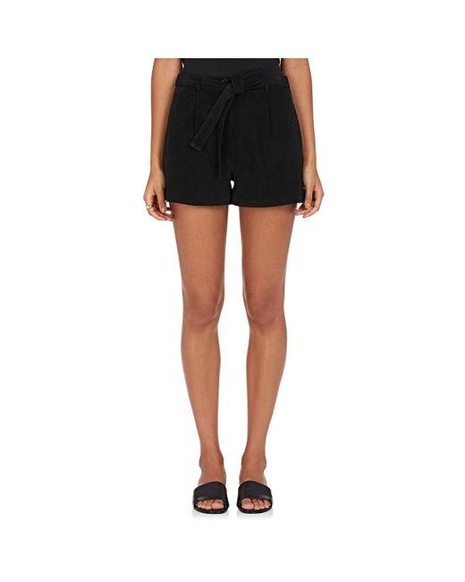 Robert Rodriguez - Black Suede Shorts - Lyst