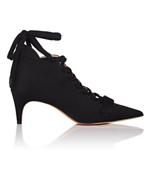 Derek Lam - Black Montparnasse Satin Ankle Booties - Lyst