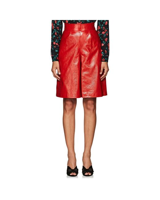 Vivetta - Red Geelong Leather Shorts - Lyst