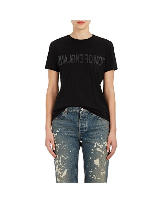 Helmut Lang - Black tom Of England Cotton T-shirt - Lyst