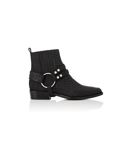 Sartore - Black Harness Python Ankle Boots - Lyst