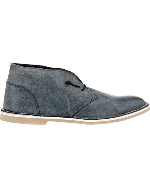 Barneys New York - Black Burnished Chukka Boots - Lyst