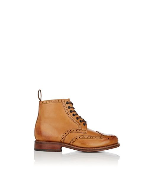 GRENSON - Brown Sharp Burnished Leather Boots for Men - Lyst