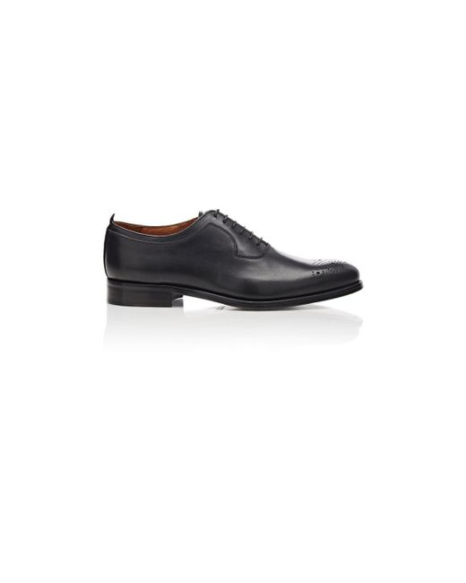 Barneys New York - Black Medallion-toe Balmorals for Men - Lyst