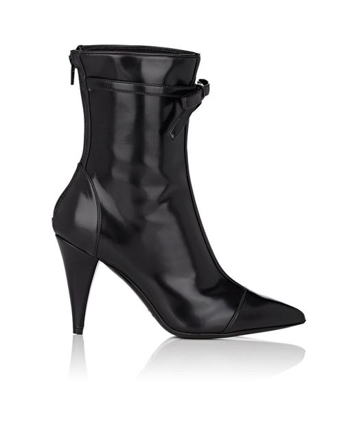 Philosophy Di Lorenzo Serafini - Black Bow-embellished Spazzolato Leather Ankle Boots - Lyst